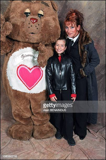 Julie Pietri and daughter Manon in France on November 10 2001