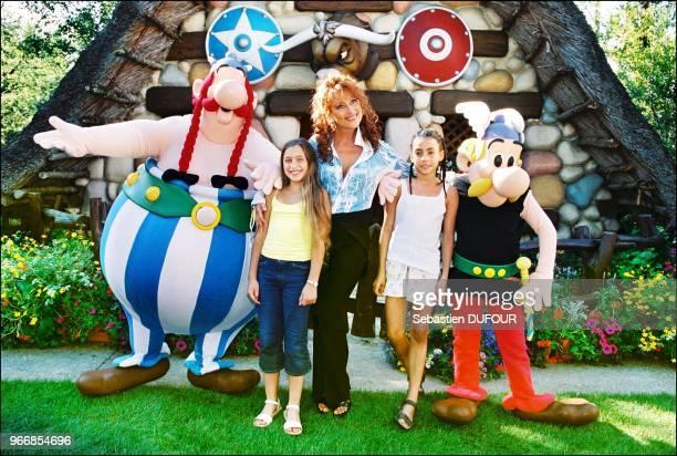 Julie Pietri and her children.
