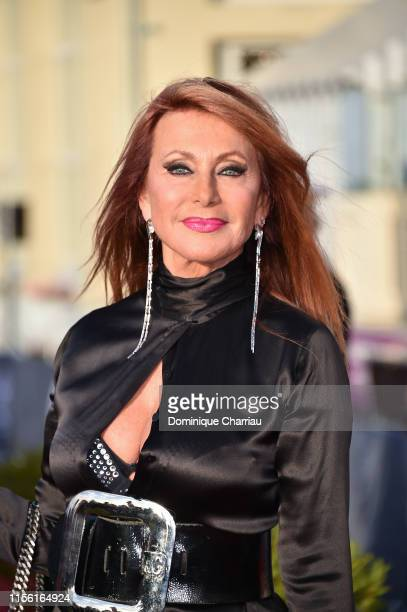 Julie Pietri attends the 33rd Cabourg Film Festival : Day Four on June 15, 2019 in Cabourg, France.