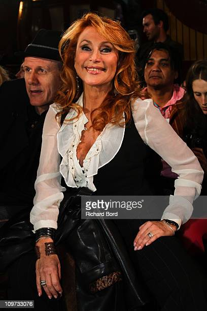 Julie Pietri attends the Christophe Guillarme Ready to Wear Autumn/Winter 2011/2012 show during Paris Fashion Week at Balajo on March 2, 2011 in...