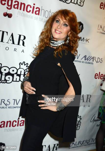 Julie Pietri attends the 'Lauriers TV Awards 2014 Ceremony' : Red Carpet Arrivals At La Cigale on January 9, 2014 in Paris, France.