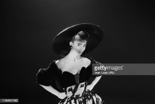 Julie Pietri dans son clip 'Nuit sans Issue' en janvier 1987 à Paris France