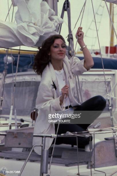 Julie Pietri lors du MIDEM à Cannes en janvier 1980 France