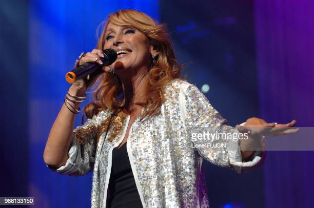 Julie Pietri performs at the Arena of Geneve for Generation 80