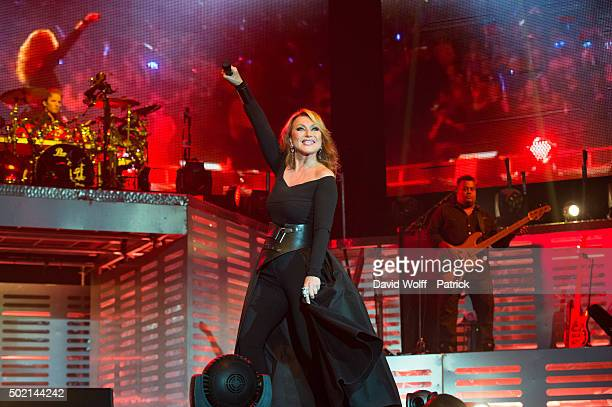 Julie Pietri performs during Stars 80 Show at AccorHotels Arena on December 20 2015 in Paris France