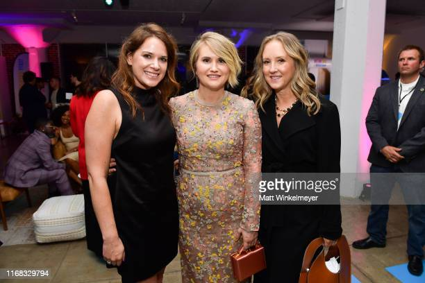 Julie Rapaport Jillian Bell and Jennifer Salke attend the premiere of Amazon Studios' Brittany Runs A Marathon on August 15 2019 in Los Angeles...
