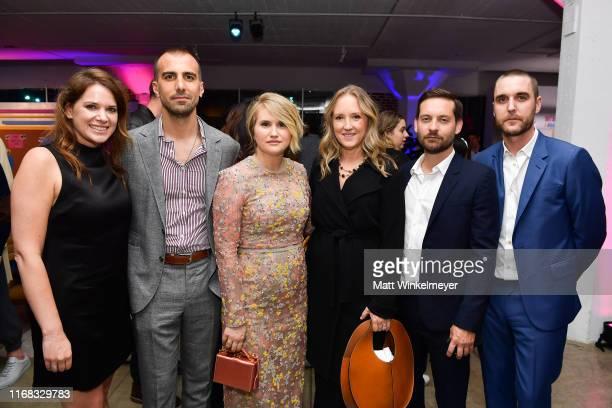 Julie Rapaport Paul Downs Colaizzo Jillian Bell Jennifer Salke Tobey Maguire and Matthew Plouffe attend the premiere of Amazon Studios' Brittany Runs...