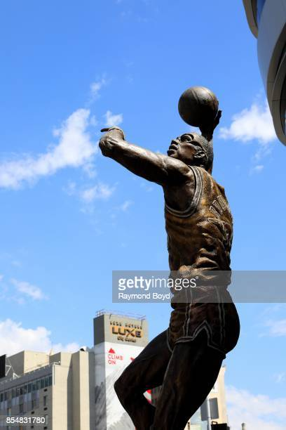 Julie Rottblatt Amrany and Omri Amrany's statue of former Los Angeles Lakers basketball player Kareem Abdul Jabbar stands in Star Plaza at Staples...
