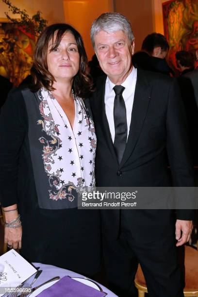 Julie Rouart and Yves Carcelle attend the the dinner of the friends of the 'Musee d'Art Moderne de la ville de Paris' on October 22 2013 in Paris...