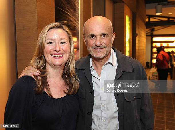 Julie Royer and Yves Durif attend The PHYTO The Nature Conservancy Earth Day Event at Phyto Universe on April 17 2012 in New York City