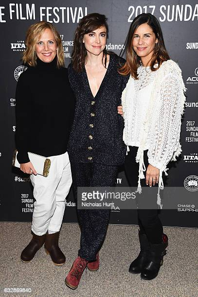 Julie Rudd Alethea Jones and Naomi Scott attend 'Fun Mom Dinner' Premiere during the 2017 Sundance Film Festival at Eccles Center Theatre on January...