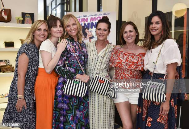 """Julie Rudd, Alethea Jones, Toni Collette, Katie Aselton, Molly Shannon, and Naomi Scott attend the release party for """"Fun Mom Dinner"""" at Clare V. On..."""