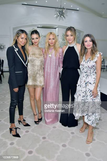 Julie Sarinana Victoria Justice Rachel Zoe Chloe Bennet and Ali Kay attend Rachel Zoe Spring 2019 LA Presentation at Hotel BelAir on September 4 2018...