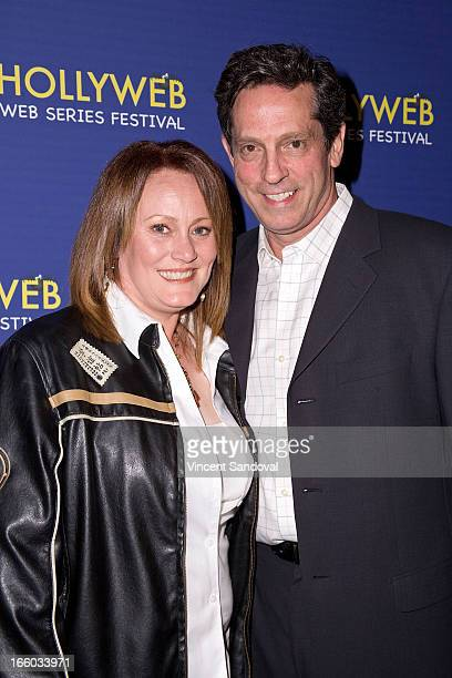 Julie Smith and Robert Maffia attend the 2nd annual HollyWeb Festival at Avalon on April 7 2013 in Hollywood California
