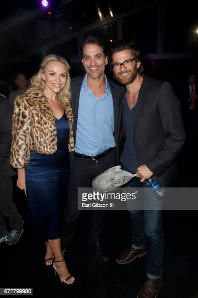 Julie Solomon actor Johnathon Schaech and guest attend the Premiere Of National Geographic's Genius After Party on April 24 2017 in Los Angeles...