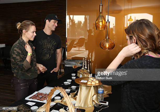 Julie Solomon and actor Johnathon Schaech attend Kari Feinstein's Pre-Golden Globes Style Lounge at the Andaz West Hollywood on January 9, 2015 in...