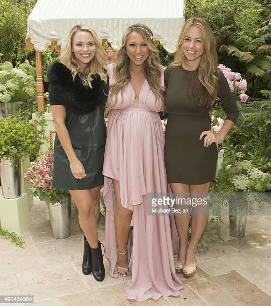 Julie Solomon Diana Madison and Jessica Hall attend Diana Madison Baby Shower on October 4 2015 in Los Angeles California