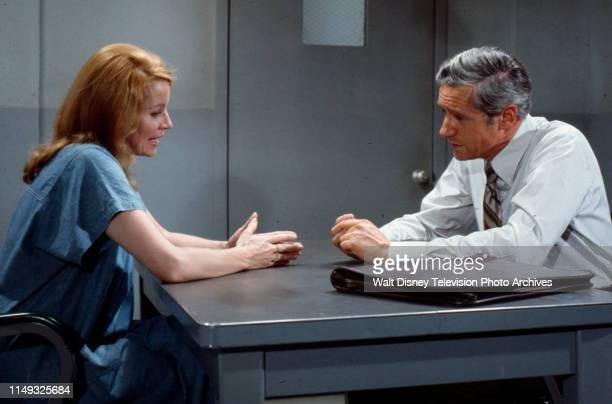 Julie Sommars Arthur Hill appearing in the ABC tv series 'Owen Marshall Counselor at Law' episode 'Victim in Shadow'