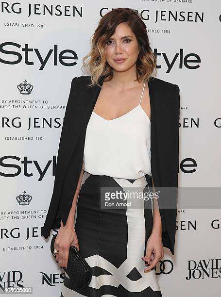 Julie Stefanja poses at the Instyle and Audi Women Of Style Awards nominees cocktail party at Georg Jensen Castlereagh Street on March 3 2015 in...