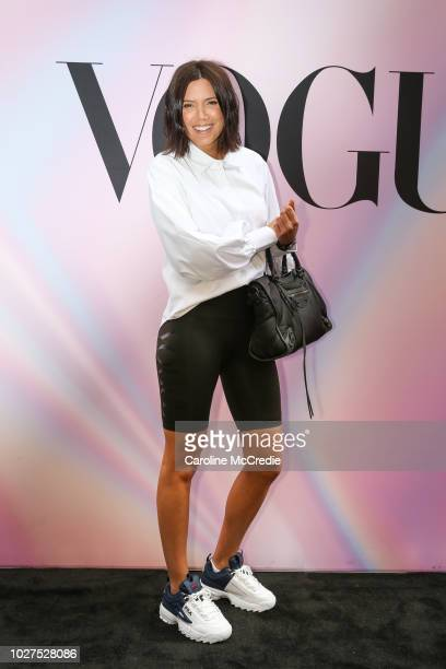 Julie Stevanja during Vogue American Express Fashion's Night Out on September 6 2018 in Sydney Australia