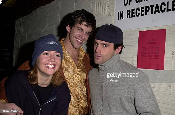 Julie Stoffer Dan Renzi and Jamie Murray during The Real World Reunion Tour at Beacon Theatre in New York City New York United States