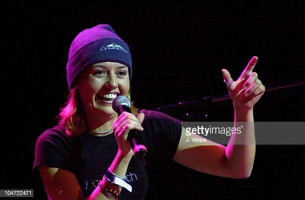 Julie Stoffer during The Real World Reunion Tour at Beacon Theatre in New York City New York United States