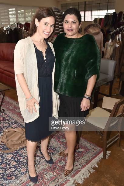 Julie Street and Iran Hopkins attend the Somper Furs Hosts Birthday Tea Party Honoring Iran Hopkins on February 10 2018 in Los Angeles California
