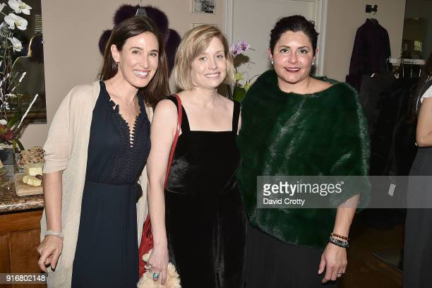 Julie Street Jill Hageman and Iran Hopkins attend the Somper Furs Hosts Birthday Tea Party Honoring Iran Hopkins on February 10 2018 in Los Angeles...