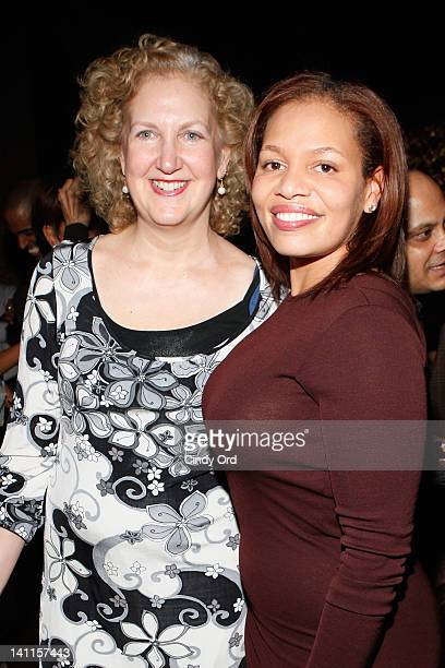 Julie Swidler and Quinn Rhone attend Sylvia Rhone's surprise birthday party at Goldbar on March 11 2012 in New York City
