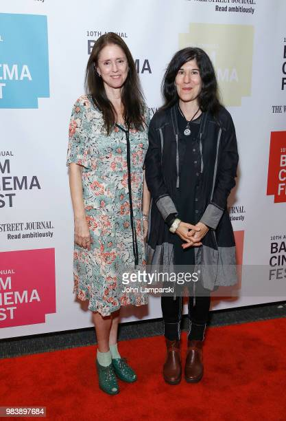 Julie Taymor and Debra Granik attend 2018 BAM Cinema Fest Centerpiece screening of 'Leave No Trace' at BAM Harvey Theater on June 25 2018 in New York...