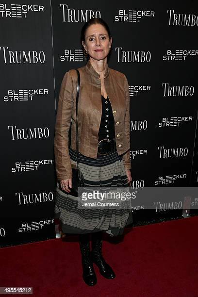 Julie Taymor attends the Trumbo New York premiere at MoMA Titus Two on November 3 2015 in New York City
