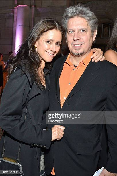 Julie Taymor director of 'A Midsummer Night's Dream' in Brooklyn left and composer Elliot Goldenthal attend the openingnight party for 'Anna Nicole'...
