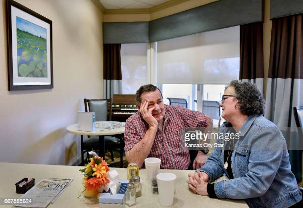 Julie Torrence visits her father Clyde Hill left for lunch at Twin Oaks Health and Rehab on March 27 2017 in Lansing Kan About half of those who...