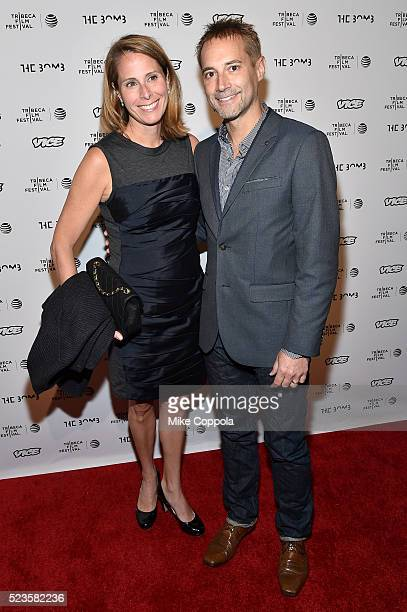 """Julie Tucker and Adam Tucker attend """"the bomb"""" premiere during the 2016 Tribeca Film Festival at Gotham Hall on April 23, 2016 in New York City."""