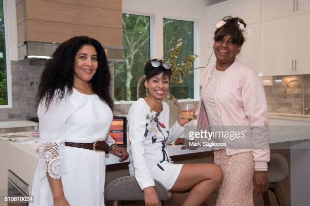Julie Walker Cheryl Green and Allison Sneed attend the Douglas Elliman and Hamptons Magazine Celebration of the Castle Fitzjohns PopUp Gallery on...