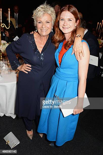 Julie Walters and Bonnie Wright attend the BFI London Film Festival IWC Gala Dinner in honour of the BFI at Battersea Evolution Marquee on October 7...