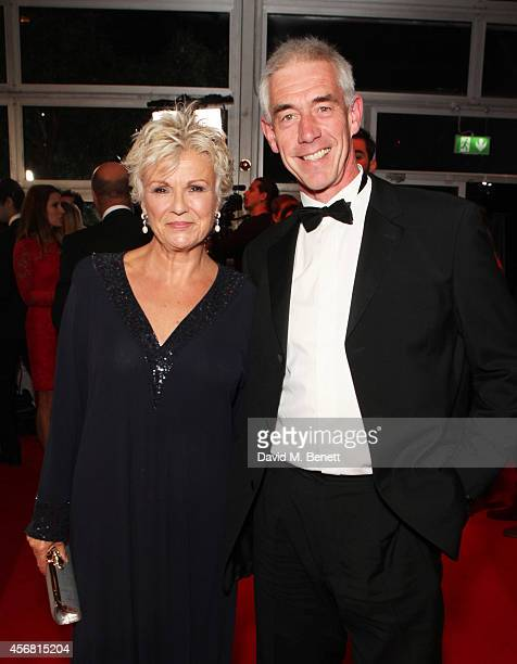 Julie Walters and Grant Roffey attend the BFI London Film Festival IWC Gala Dinner in honour of the BFI at Battersea Evolution Marquee on October 7...