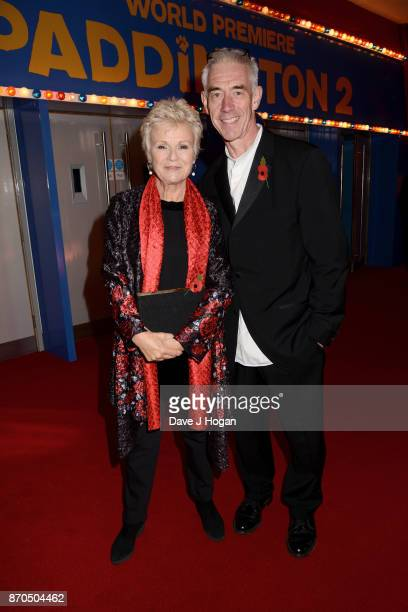 Julie Walters and Grant Roffey attend the 'Paddington 2' premiere at Odeon Leicester Square on November 5 2017 in London England