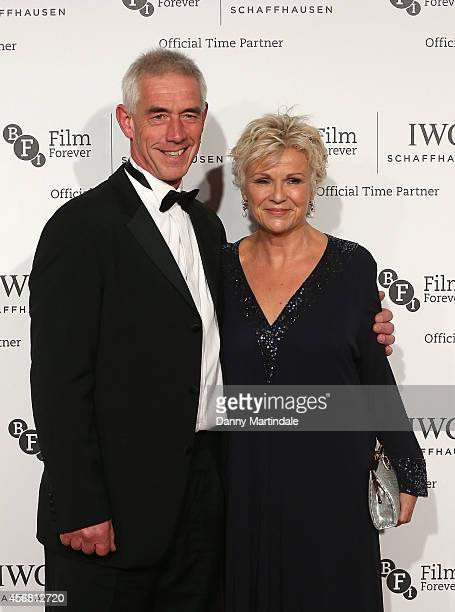 Julie Walters and Grant Roffey attends the IWC Gala dinner in honour of the BFI at Battersea Evolution on October 7 2014 in London England