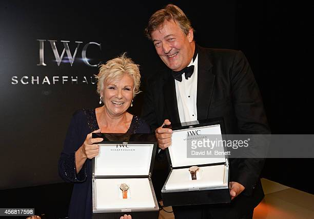 Julie Walters and Stephen Fry attend the BFI London Film Festival IWC Gala Dinner in honour of the BFI at Battersea Evolution Marquee on October 7...