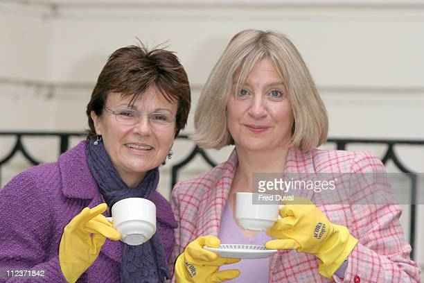 Julie Walters and Victoria Wood during Acorn Antiques The Musical London Photocall at Theatre Royal in London Great Britain