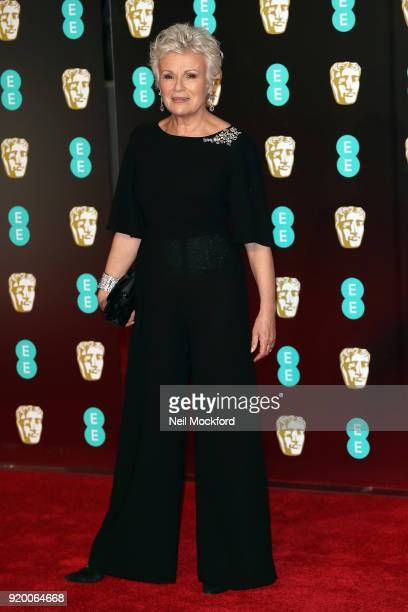 Julie Walters arrives at the EE British Academy Film Awards at the Royal Albert Hall on February 18 2018 in London England