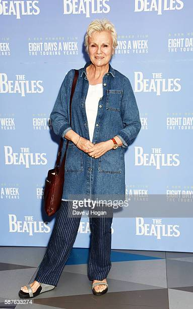 Julie Walters arrives for a special screening of The Beatles Eight Days a Week The Touring Years at Picturehouse Central on August 9 2016 in London...