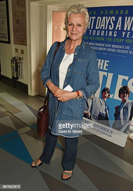 Julie Walters attends a special screening of new documentary The Beatles Eight Days A Week The Touring Years hosted by director Ron Howard at the Vue...