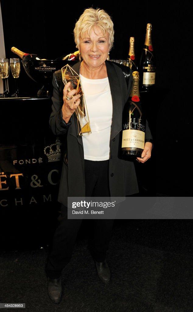Julie Walters, winner of the Richard Harris award, poses backstage at the Moet British Independent Film Awards 2013 at Old Billingsgate Market on December 8, 2013 in London, England.