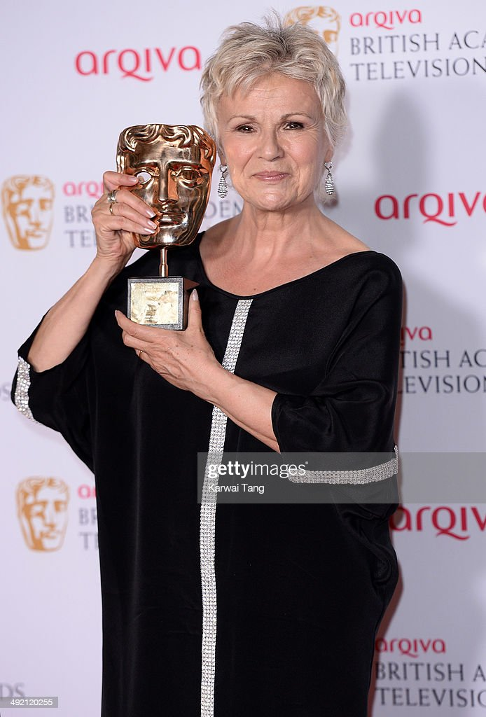 Julie Walters with her Fellowship Award at the Arqiva British Academy Television Awards held at the Theatre Royal on May 18, 2014 in London, England.