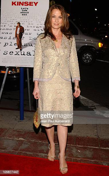 Julie Warner during Kinsey Los Angeles Premiere Arrivals at Mann Village in Westwood California United States