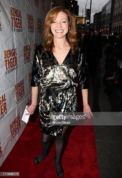 Julie White poses at The Opening Night of Bengal Tiger at the Baghdad Zoo on Broadway at Richard Rodgers Theatre on March 31 2011 in New York City