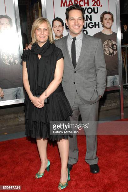 """Julie Yaeger and Paul Rudd attend """"I LOVE YOU, MAN"""" Premiere at Mann's Village Theater on March 17, 2009 in Los Angeles, California."""