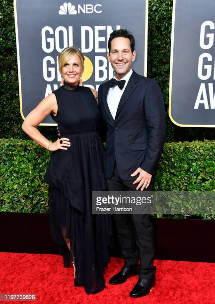Julie Yaeger and Paul Rudd attend the 77th Annual Golden Globe Awards at The Beverly Hilton Hotel on January 05 2020 in Beverly Hills California